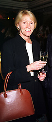 SALLY CARTWRIGHT publisher of Hello! magazine, at a reception in London on 9th February 2000.OAX 57 wo