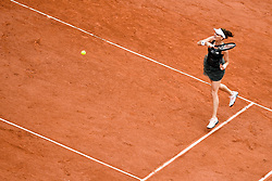 PARIS, June 3, 2017  Agnieszka Radwanska of Poland returns the ball to Alize Cornet of France during the women's singles 3rd round match at the French Open Tennis Tournament 2017 in Paris, France on June 3, 2017. (Credit Image: © Chen Yichen/Xinhua via ZUMA Wire)