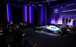 Unveiling of the new livery during the Williams 2019 livery launch at Williams Conference Centre, Grove.