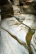 Slot canyon at top of National Canyon, Grand Canyon National Park, Arizona, US