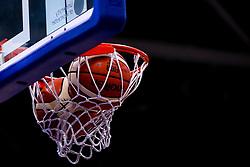 Basketballs get stuck in the net - Mandatory by-line: Robbie Stephenson/JMP - 16/09/2019 - BASKETBALL - University of Worcester Arena - Worcester, England - Worcester Wolves v Bristol Flyers - Preseason Friendly