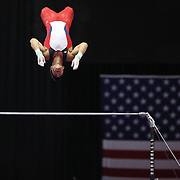 Sean Melton, U.S.O.T.C. in action on the Horizontal bar during the Senior Men Competition at The 2013 P&G Gymnastics Championships, USA Gymnastics' National Championships at the XL, Centre, Hartford, Connecticut, USA. 16th August 2013. Photo Tim Clayton