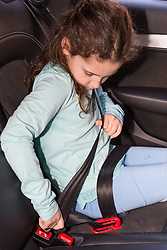 mifold kids booster seat. London, March 26 2018.