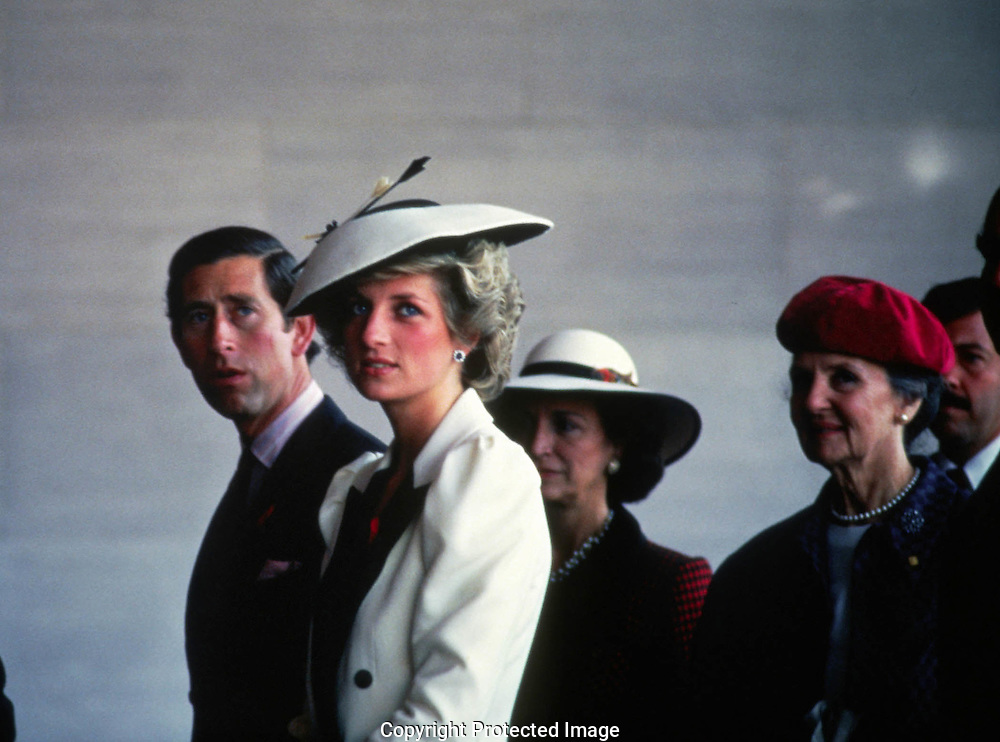 A 20.3 MG FILE FROM FILM OF:..Princess Diana and Prince Charles tour the National Gallery of Art . Photo by Dennis Brack