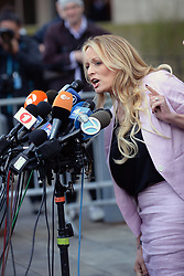 April 16, 2018 - New York, NY, USA - April 16, 2018 New York City..Stormy Daniels at Daniel Patrick Moynihan U.S. Court House in New York City on April 16, 2018. (Credit Image: © Kristin Callahan/Ace Pictures via ZUMA Press)
