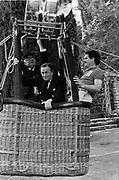 Baron Thyssen-Bornemisza and Malcolm Forbes. Party to launch Faberge exhibition at Baron Thyssen's Villa Favorita, Lugano. 20 April 1987. © Copyright Photograph by Dafydd Jones 66 Stockwell Park Rd. London SW9 0DA Tel 020 7733 0108 www.dafjones.com