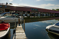 Fay's Boat Yard on Lake Winnipesaukee in Gilford NH.   © Karen Bobotas Photographer