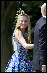 May 20, 2017 - Englefield, United Kingdom - Image licensed to i-Images Picture Agency. 20/05/2017. Englefield , United Kingdom. Pippa's cousin Tallulah Goldsmith  arriving at the wedding of Pippa Middleton and James Matthews at St.Mark's Church in Englefield, Berkshire, United Kingdom. Picture by Stephen Lock / i-Images (Credit Image: © Stephen Lock/i-Images via ZUMA Press)