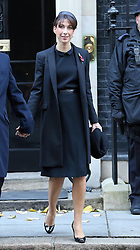 Samantha Cameron leaving No 10 Downing Street to attend the Remembrance Sunday service at the Cenotaph in London, Sunday, 10th November 2013. Picture by Stephen Lock / i-Images