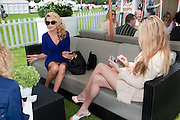CHRISTIE BRINKLEY; EKATERINA FIELDS, Cartier International Polo. Smiths Lawn. Windsor. 24 July 2011. <br /> <br />  , -DO NOT ARCHIVE-© Copyright Photograph by Dafydd Jones. 248 Clapham Rd. London SW9 0PZ. Tel 0207 820 0771. www.dafjones.com.