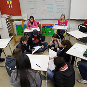 Students at Arlee High school on a Native American reservation in Arlee, Montana.