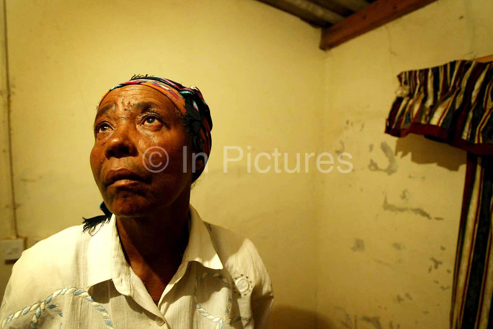 Woman who was threatened and intimidated by Zanu PF during elections in Zimbabwe.