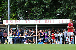 Bristol City fans look on during the community match against Keynsham and Brislington FC - Photo mandatory by-line: Dougie Allward/JMP - Mobile: 07966 386802 - 05/07/2015 - SPORT - Football - Bristol - Brislington Stadium - Pre-Season Friendly