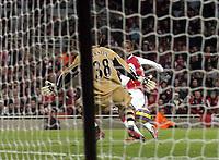 Photo: Olly Greenwood.<br />Arsenal v Charlton Athletic. The Barclays Premiership. 02/01/2007. Arsenal's Justin Hoyte scores