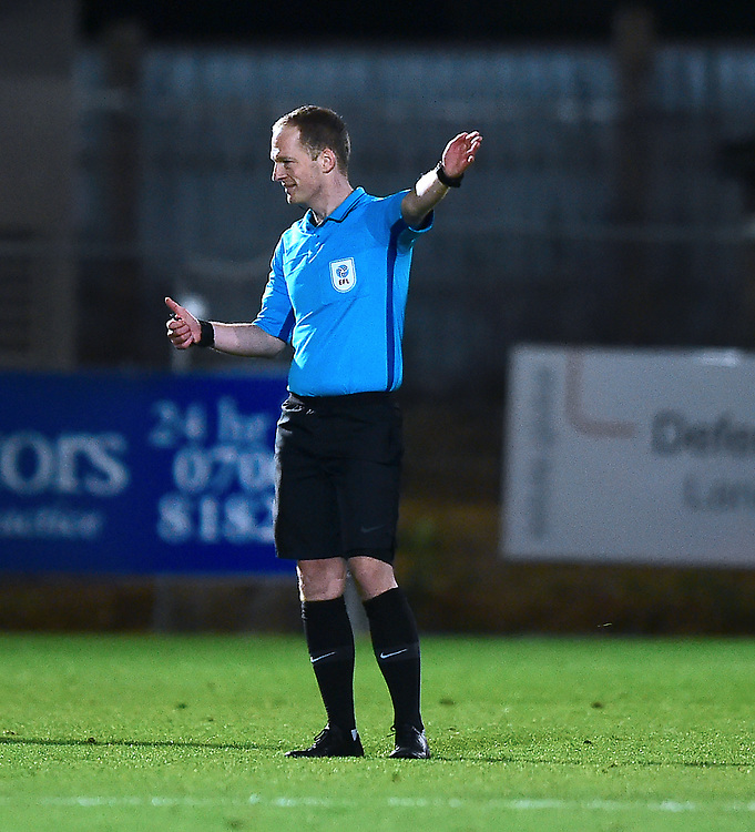 Referee Martin Coy<br /> <br /> Photographer Andrew Vaughan/CameraSport<br /> <br /> The EFL Sky Bet League Two - Stevenage v Lincoln City - Saturday 8th December 2018 - The Lamex Stadium - Stevenage<br /> <br /> World Copyright © 2018 CameraSport. All rights reserved. 43 Linden Ave. Countesthorpe. Leicester. England. LE8 5PG - Tel: +44 (0) 116 277 4147 - admin@camerasport.com - www.camerasport.com