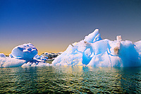 Icebergs, Columbia Bay, Prince William Sound, near Valdez, Alaska USA