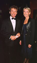 Former top jockey JOHNNIE FRANCOME and his close friend MRS TRACEY BAILEY former wife of trainer Kim Bailey, at a film premier on 26th August 1998.<br /> MJL 36