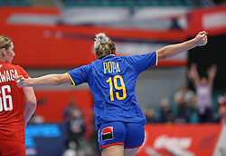 KOLDING, DENMARK - DECEMBER 5: Laura Popa during the EHF Euro 2020 Group D match between Poland and Romania in Sydbank Arena, Kolding, Denmark on December 5, 2020. Photo Credit: Allan Jensen/EVENTMEDIA.