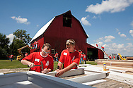 Campbells' sponsors the restoration of the Riordan family historic barn on August 11, 2008 in Reddick, Illinois. (Photo for Campbells')