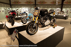 Roland Sands' RSD Race Chief custom Indian Chief Dark Horseracer in the More Mettle - Motorcycles and Art That Never Quit exhibition in the Buffalo Chip Events Center Gallery during the Sturgis Motorcycle Rally. SD, USA. Tuesday, August 10, 2021. Photography ©2021 Michael Lichter.