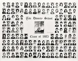 1983 Yale Divinity School Senior Portrait Class Group Photograph