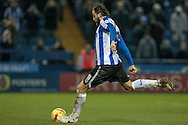 Atdhe Nuhiu (Sheffield Wednesday) takes the penalty during the Sky Bet Championship match between Sheffield Wednesday and Queens Park Rangers at Hillsborough, Sheffield, England on 23 February 2016. Photo by Mark P Doherty.