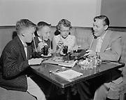 Y-560629-02.  Bill Haley (of Comets band) and Fan club. Heathman Hotel. June 29, 1956