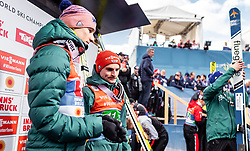 23.02.2019, Bergiselschanze, Innsbruck, AUT, FIS Weltmeisterschaften Ski Nordisch, Seefeld 2019, Skisprung, Herren, im Bild Karl Geiger (GER), Richard Freitag (GER) // Karl Geiger of Germany, Richard Freitag of Germany during the men's Skijumping HS130 competition of FIS Nordic Ski World Championships 2019. Bergiselschanze in Innsbruck, Austria on 2019/02/23. EXPA Pictures © 2019, PhotoCredit: EXPA/ JFK