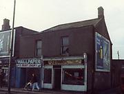 old dublin street photos December 1983 walpaper and paint shop j.conroy Old amateur photos of Dublin streets churches, cars, lanes, roads, shops schools, hospitals