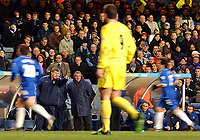 Fotball, 28. januar 2002,  Chelsea - Leeds, FA Barclaycard Premiership, Stamford Bridge<br />Terry Venables og Brian Kidd<br />Foto: Digitalsport