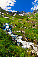 Mountain stream, American Basin, San Juan Mountains (range of the Rocky Mountains), Southwest Colorado USA