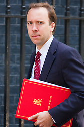 London, July 22nd 2014. Matthew Hancock MP,<br /> Minister of State for Energy arrives for the cabinet meeting at Downing Street