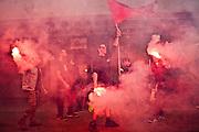 Manifestanti durante un corteo a Livorno.<br /> 19 aprile 2015 . Daniele Stefanini /  OneShot