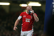 Martyn Williams of Wales sporting a black eye which he got earlier in the game.. Invesco Perpetual series 2008 autumn international match, Wales v New Zealand at the Millennium Stadium on Sat 22nd Nov 2008. pic by Andrew Orchard, Andrew Orchard sports photography,