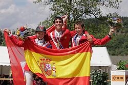 1. Manuel Anon (ESP)<br /> 2. Lauber Stefanie (SUI)<br /> 3. Fuchs Martin (SUI)<br /> European Championship Juniors - Praha 2008<br /> Photo © Hippo Foto