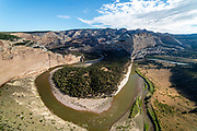 Morning at the Harding Hole  Overlook along the Yampa River, Dinosaur National Monument, Colorado, USA.