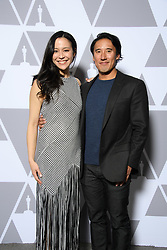 """Elizabeth Chai Vasarhelyi and Jimmy Chin of the Oscar® nominated documentary feature """"Free Solo"""" prior to the Academy of Motion Picture Arts and Sciences' """"Oscar Week: Documentaries"""" event on Tuesday, February 19, 2019 at the Samuel Goldwyn Theater in Beverly Hills. The Oscars® will be presented on Sunday, February 24, 2019, at the Dolby Theatre® in Hollywood, CA and televised live by the ABC Television Network."""