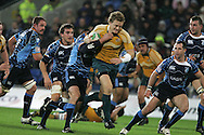 Cardiff Blues v Australia at the Cardiff City Stadium on Tuesday 24th Nov 2009. pic by Andrew Orchard, Andrew Orchard sports photography. Ryan Cross of Australia makes a break