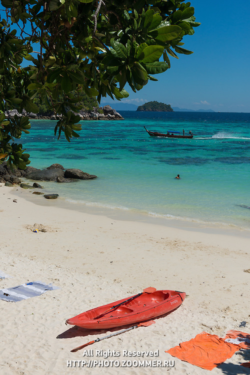 Red Kayak On Sunrise Beach, Ko Lipe, Thailand