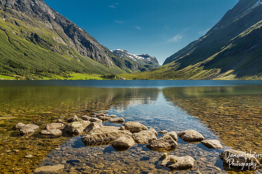 Eidsvatnet lake, Eidsdal, Norway - August