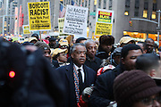 20 February 2009 NY, NY -Rev. Al Sharpton at Day 2 of New York Post Protest by Rev. Al Sharpton and The National Network against offensive cartoon depicting dead Chimpanzee as President Obama. Photo Credit: T.Jennings/Sipa