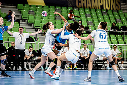 Oceane Sercien Ugolin of Krim Mercator during 1st Leg handball match between RK Krim Mercator (SLO) and CSKA Moscow (RUS) in the Round of 16 of Delo EHF Women's Champions League 2020/21, on March 6, 2021 in Arena Stozice, Ljubljana, Slovenia. Photo by Vid Ponikvar / Sportida