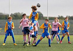 17 October 2020. Montreuil Sur Mer, Pas de Calais, France.<br /> US Montreuil U15 1ere v Le Sporting U15 1ere.<br /> Montreuil a gagné; 5-0<br /> Photo©; Charlie Varley/varleypix.com