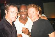 David Keith, Fritz Boyard & Mick Hucknall.Man Ray Restaurant Opening Party.Man Ray Restaurant.New York,  NY .July 11, 2001.Photo by Celebrityvibe.com..
