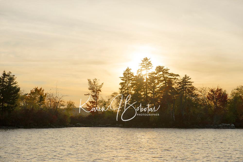 Fall cruise on Lake Winnipesaukee.  ©2017 Karen Bobotas Photographer