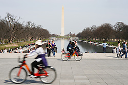 A view of the Washington Monument on the National Mall in Washington DC in the United States. From a series of travel photos in the United States. Photo date: Thursday, March 29, 2018. Photo credit should read: Richard Gray/EMPICS