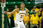WACO, TX - DECEMBER 18: Isaiah Austin #21 of the Baylor Bears defends against the Northwestern State Demons on December 18 at the Ferrell Center in Waco, Texas.  (Photo by Cooper Neill) *** Local Caption *** Isaiah Austin