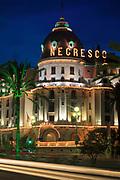 Hotel Negresco on Promenade des Anglais in Nice, France