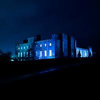Scone Palace lit up Blue