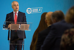 London, UK. 6 December, 2019. John Kennedy, Brexit Party candidate for Portsmouth South, speaks at the launch of the Brexit Party Defence and Veterans' Affairs policy statements at an event in Westminster.